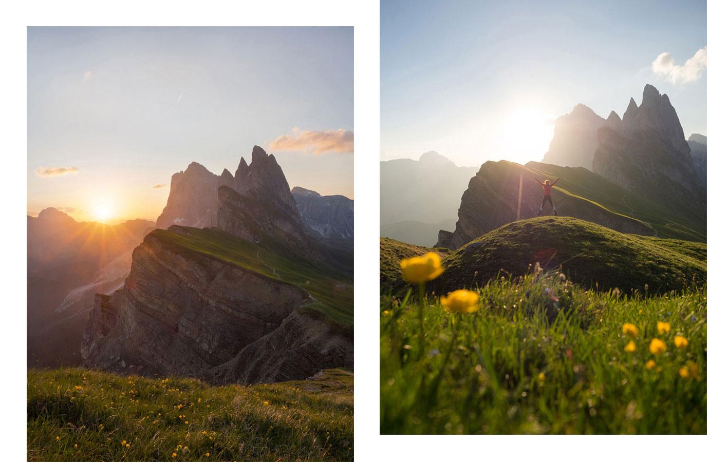 sonnenaufgang seceda suedtirol - Meine 8 schönsten Sonnenaufgänge - Blogparade