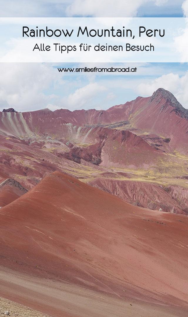 pinterest rainbowmountain4 - Rainbow Mountain in Peru - Reisetipp für Vinicunca