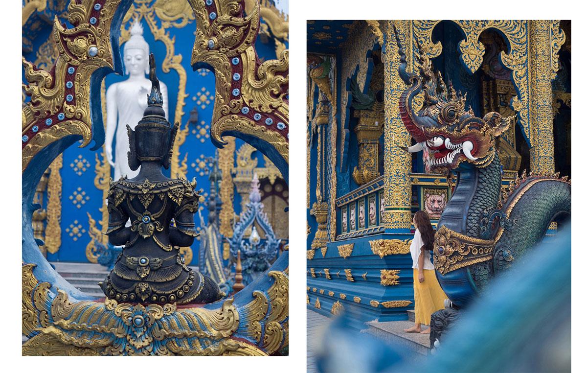blauer tempel chiang rai - Reiseguide Chiang Rai - weißer Tempel, blauer Tempel und Big Buddha