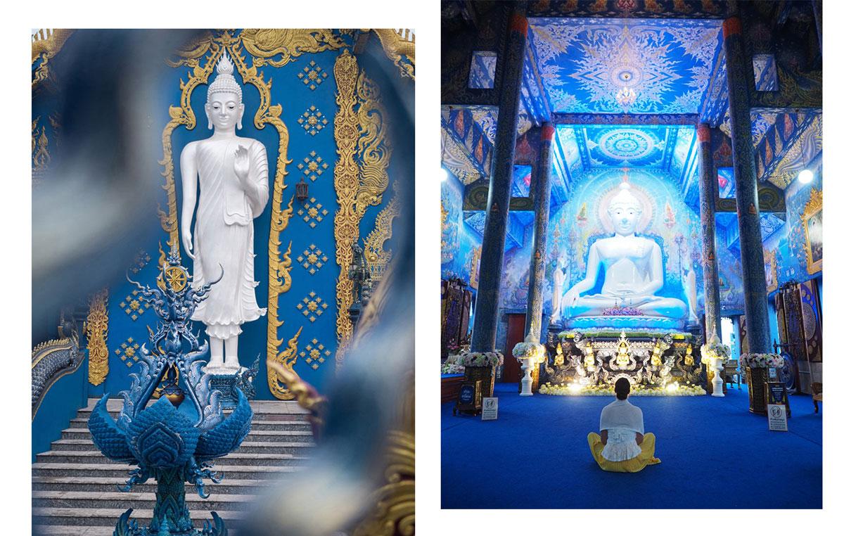 blauer tempel chiang rai2 - Reiseguide Chiang Rai - weißer Tempel, blauer Tempel und Big Buddha