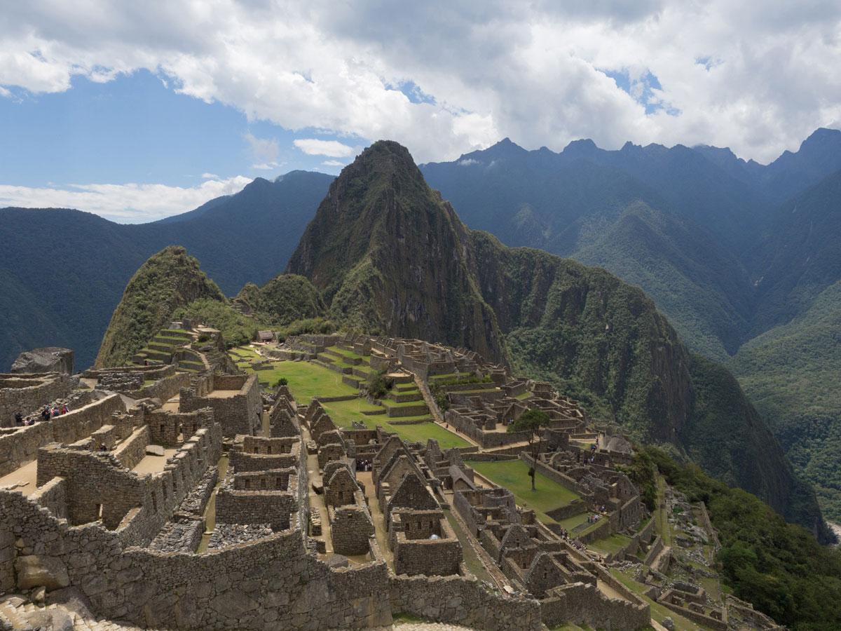 Machu Picchu Ausblick Peru