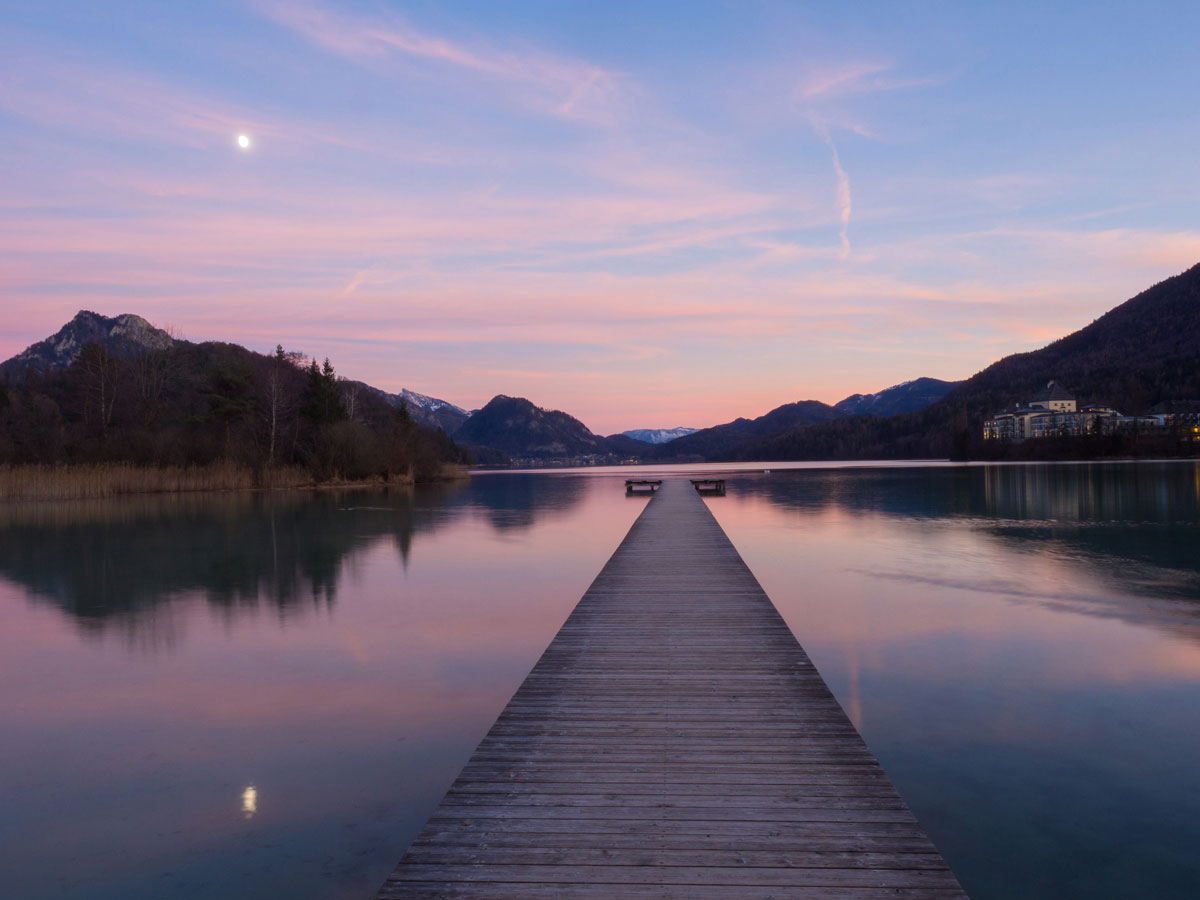 Sonnenuntergang Fuschlsee