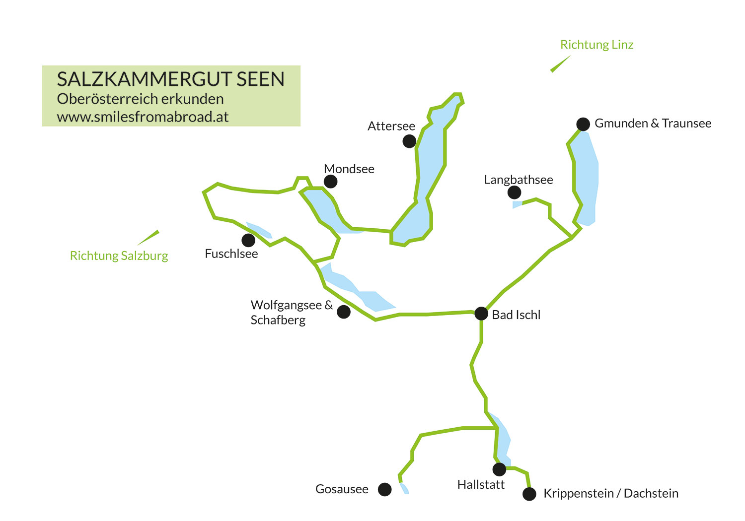 map of the salzkammergut region
