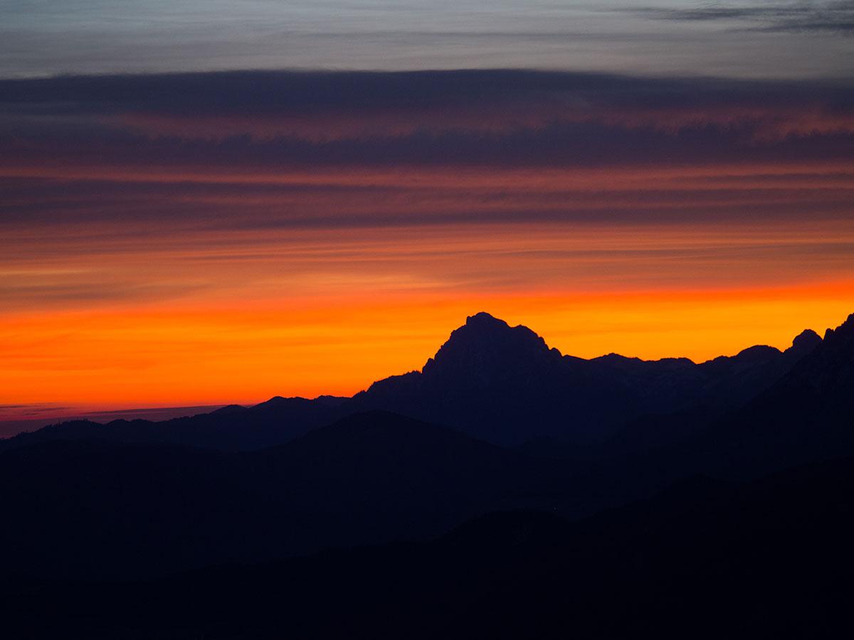 Sonnenuntergang Schober Ausblick Traunstein