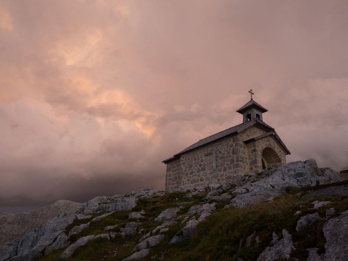 Sonnenuntergang Simonyhütte