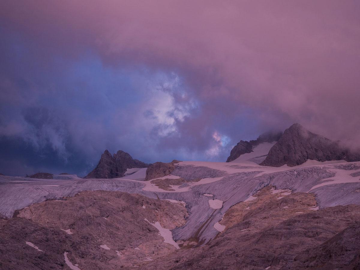Dachstein Gletscher zu Sonnenuntergang