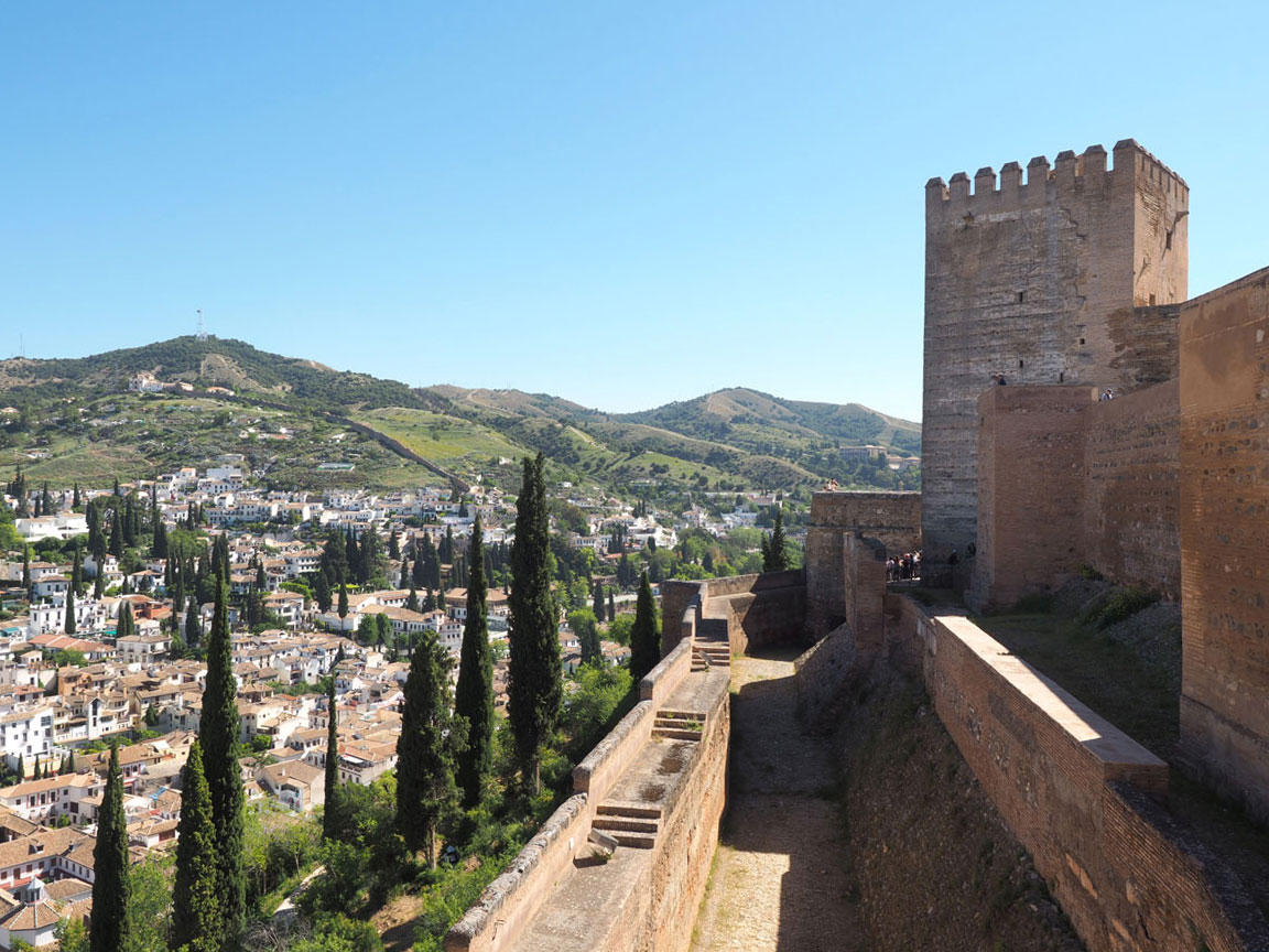 "Alcazaba Alhambra Granada Andalusien"""