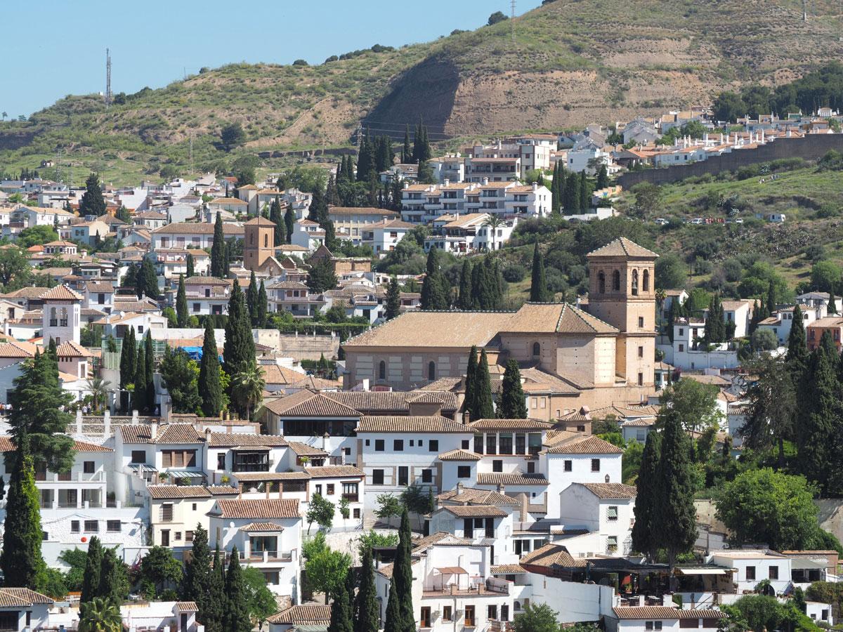 Ausblick Granada Von Alhambra