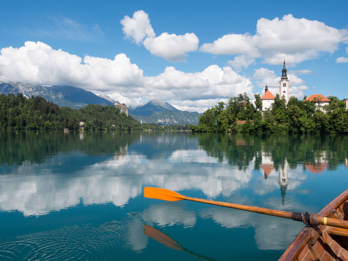 Bled See Slowenien Bootstour