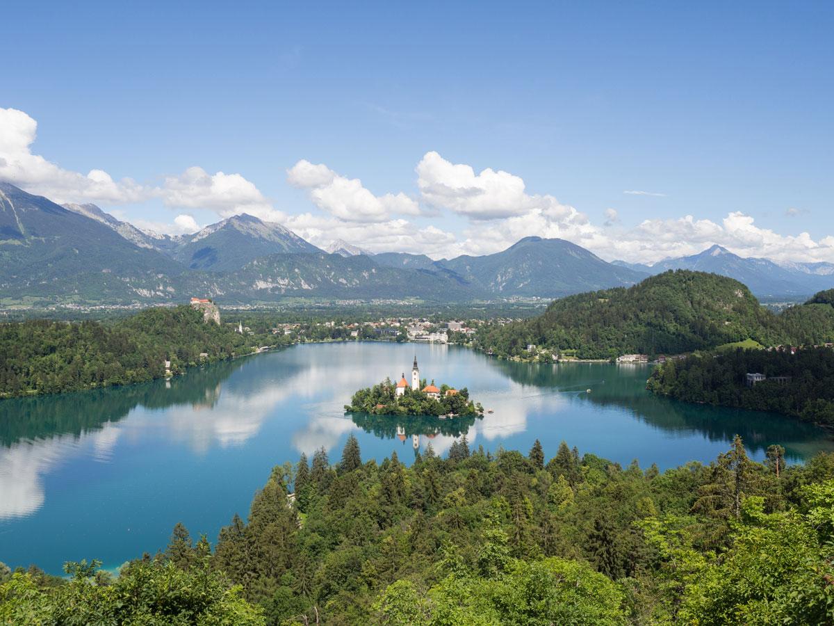 Lake Bled Slowenien Ausblick Ojstrica