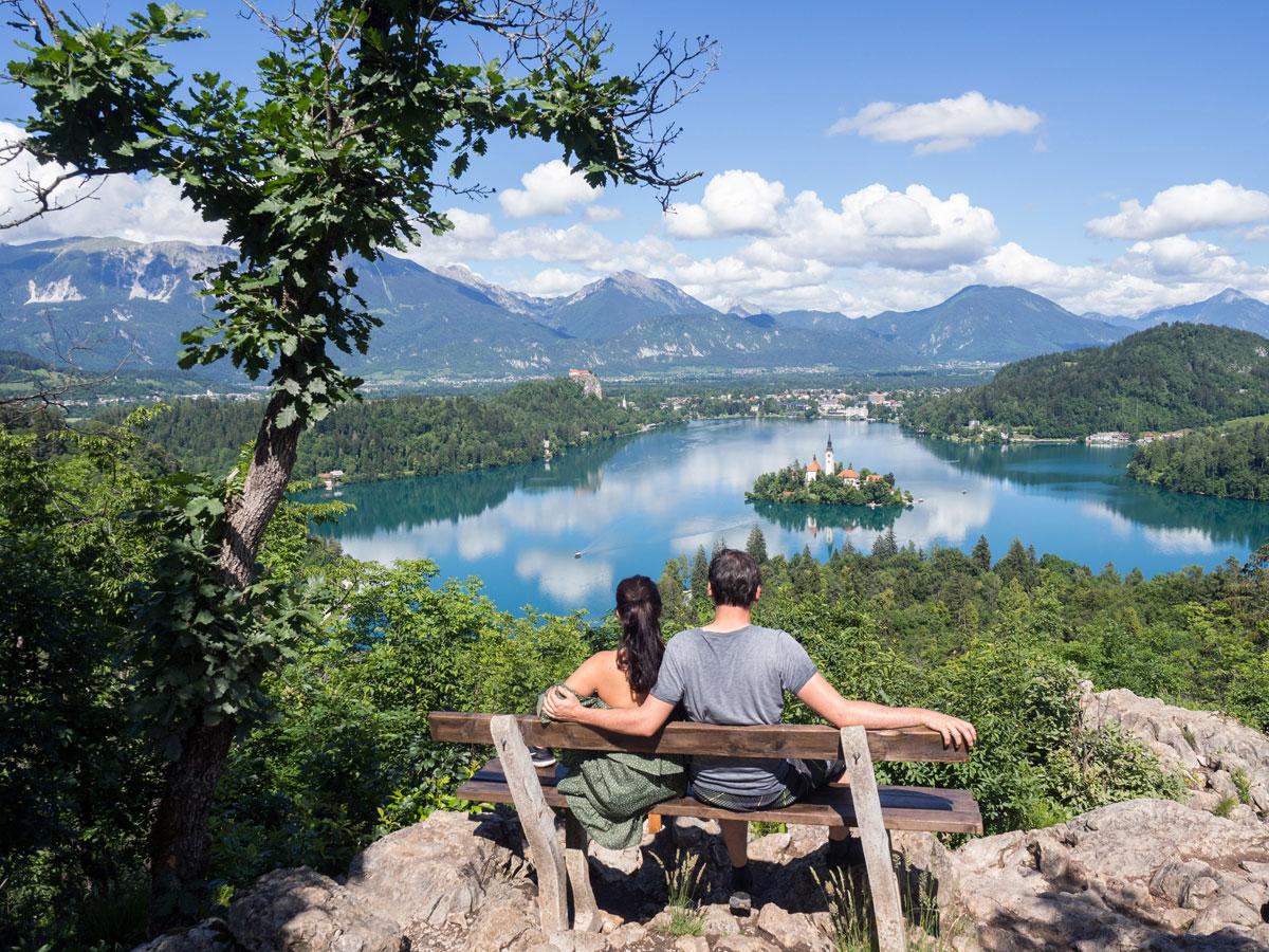 Ojstrica Aussichtspunkt Lake Bled