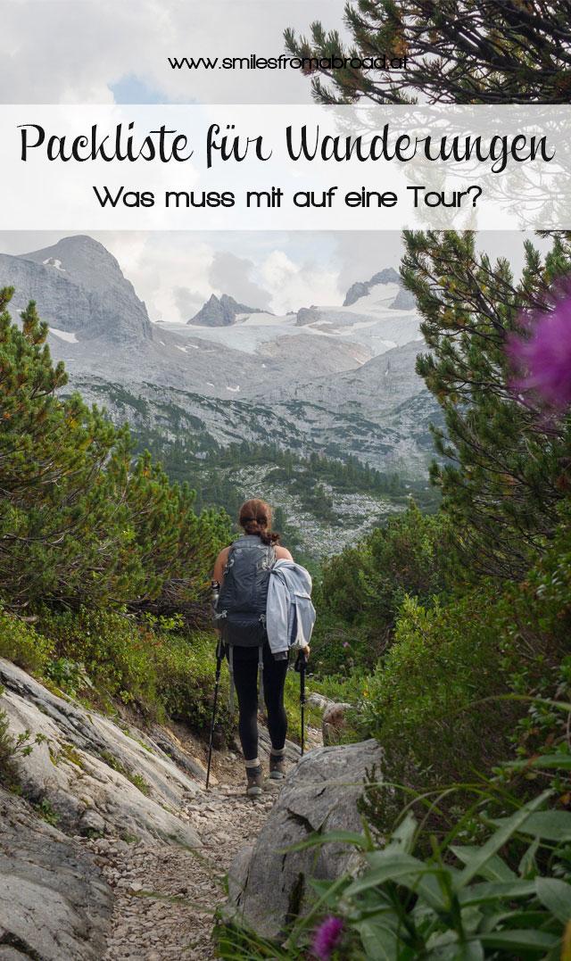 "Packliste Wanderungen Pinterest"""