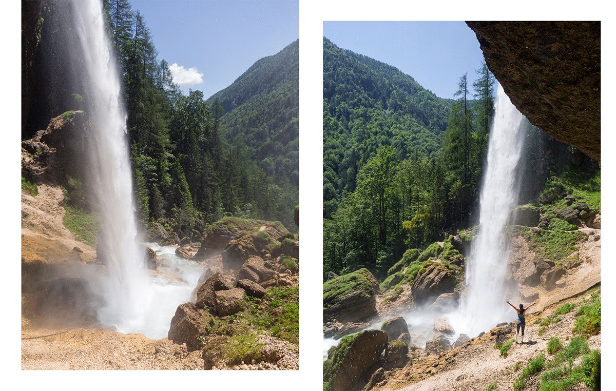 Slowenien Wasserfall Pericnik