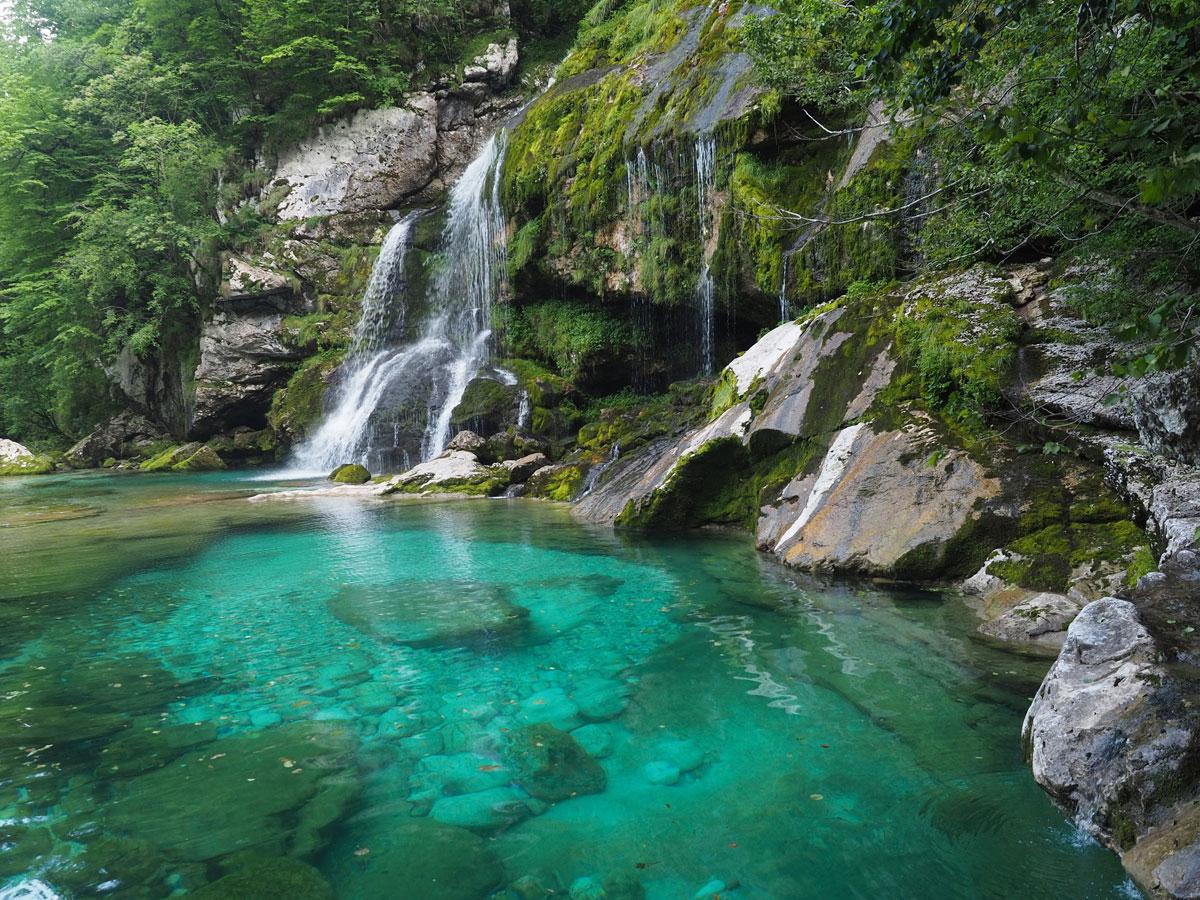 Slowenien Wasserfall Virje