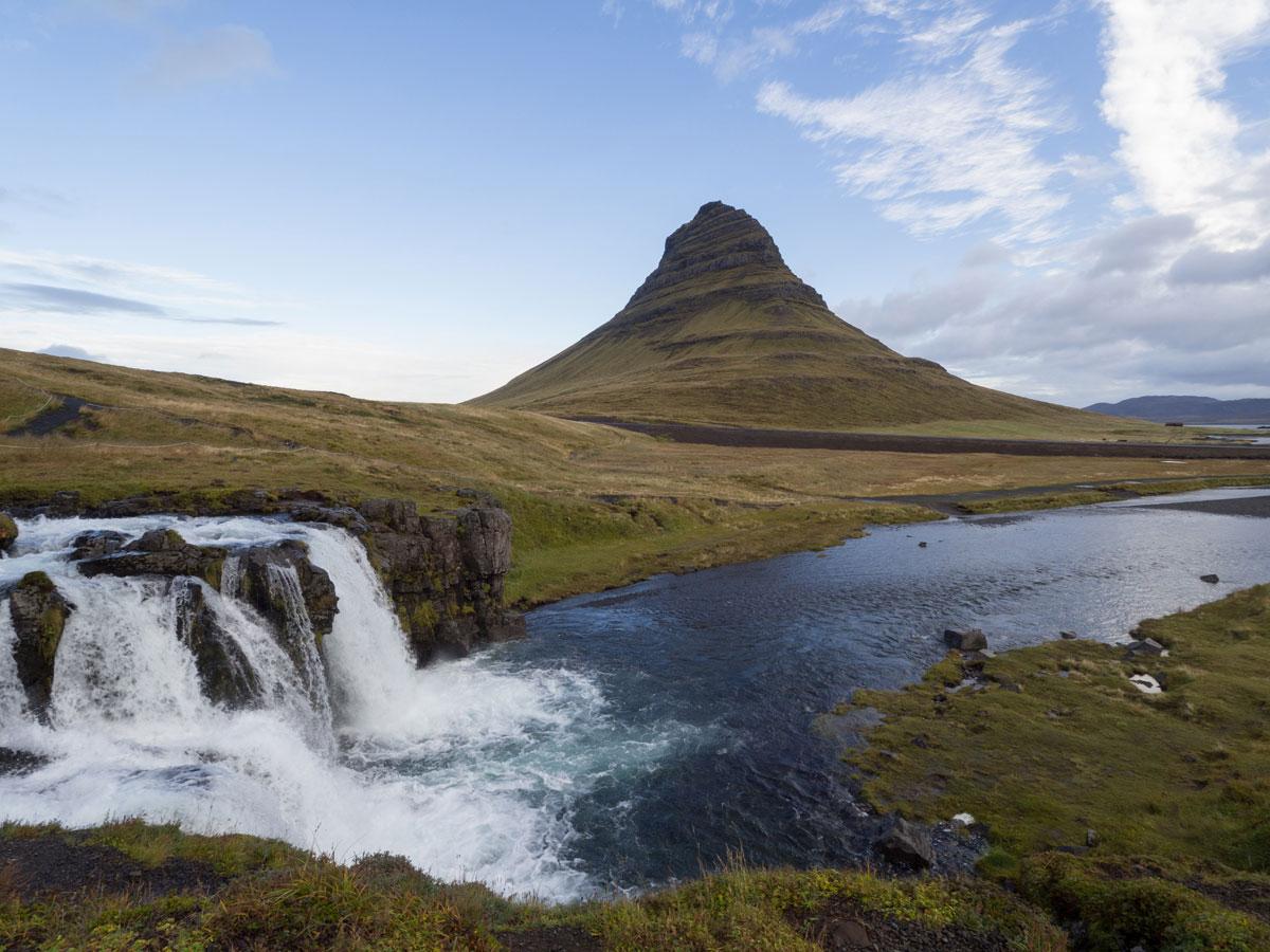 """""""snæfellsnes Halbinsel Island Kirkjufellsfoss"""