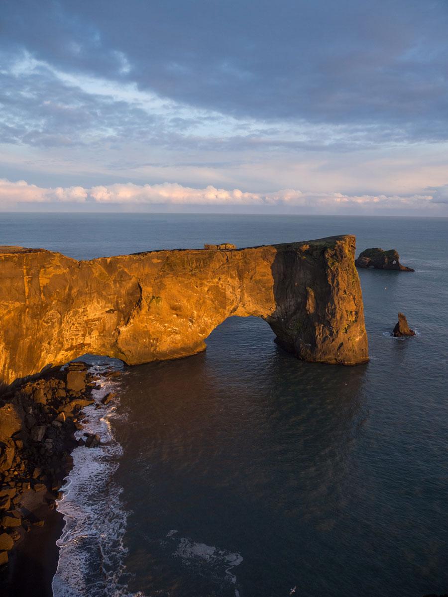 """"""" Dyrholaey Halbinsel Island Sonnenuntergang"""