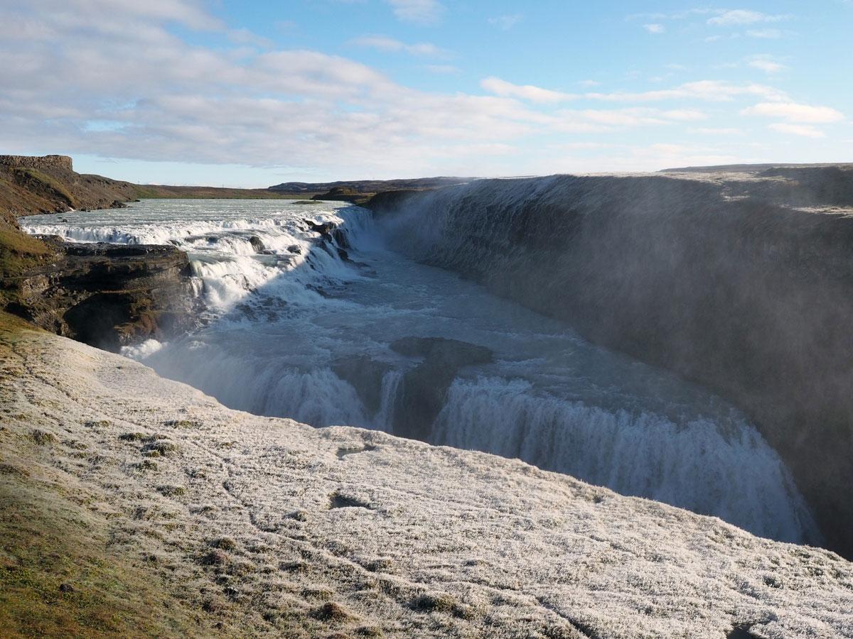 """"""" Wasserfall Gullfoss Golden Circle Island"""