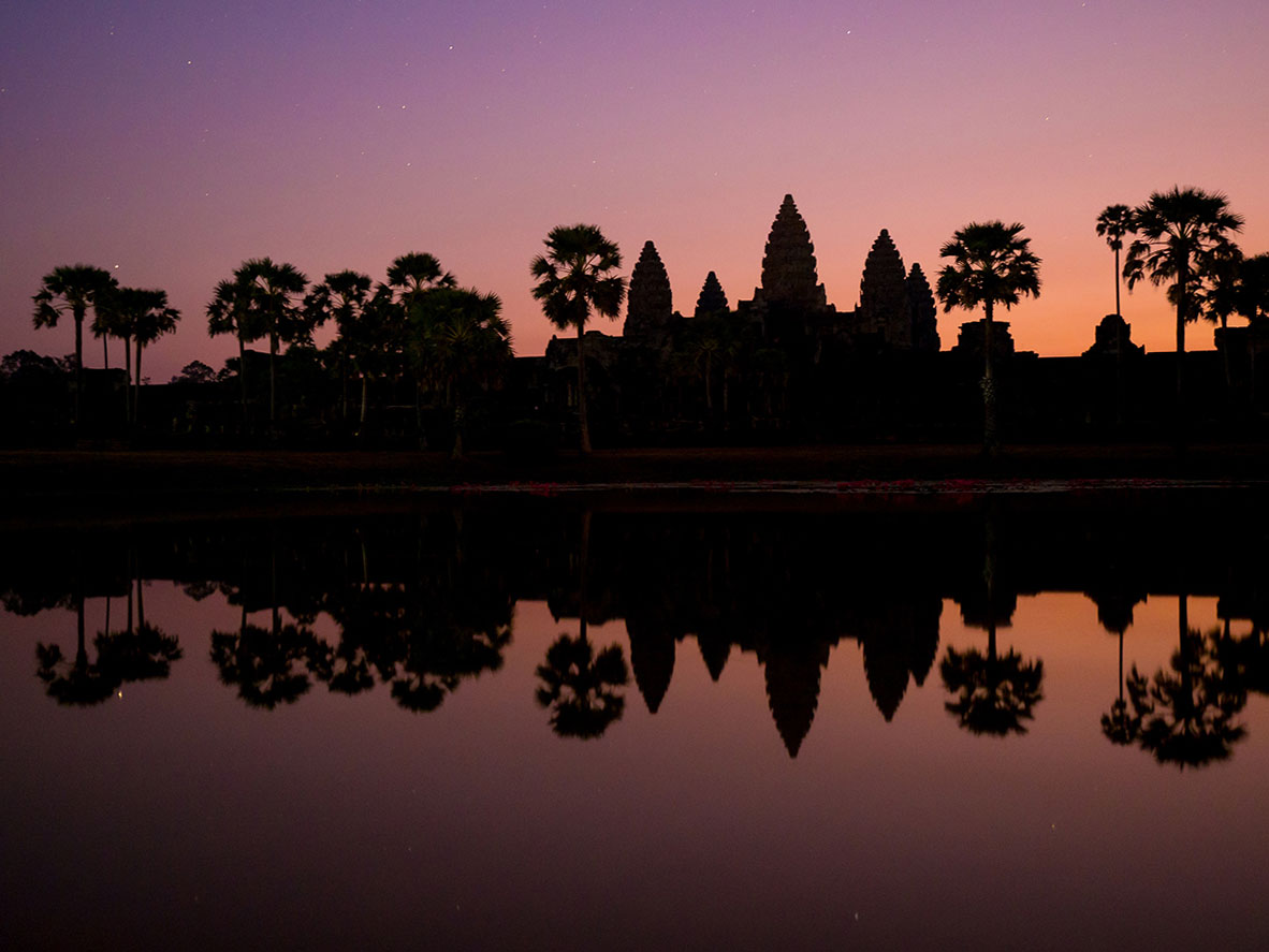 Kambodscha Angkor Wat Sonnenaufgang