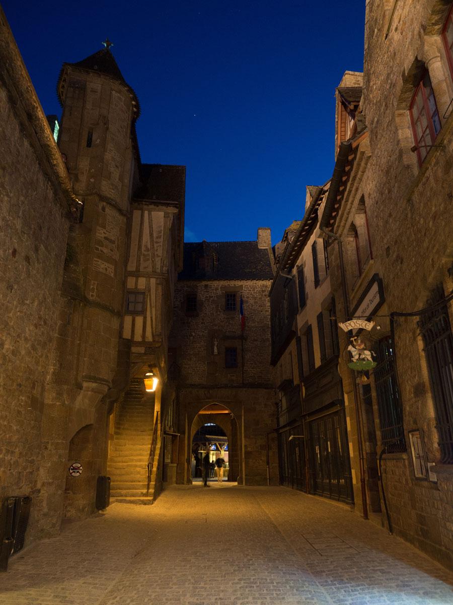 """Mont Saint Michel Normandie Frankreich Nacht ("""")"""