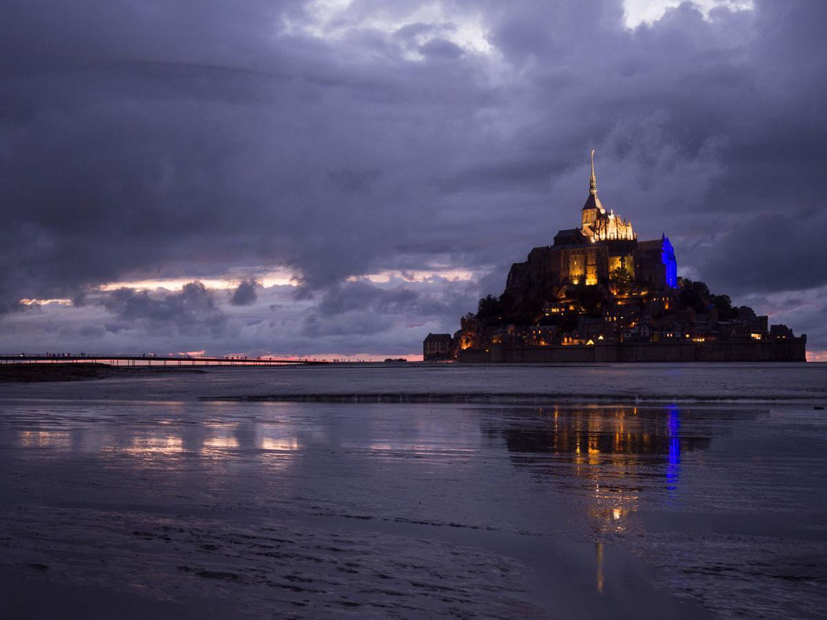 """Mont Saint Michel Normandie Frankreich Nacht Fotografie ("""")"""