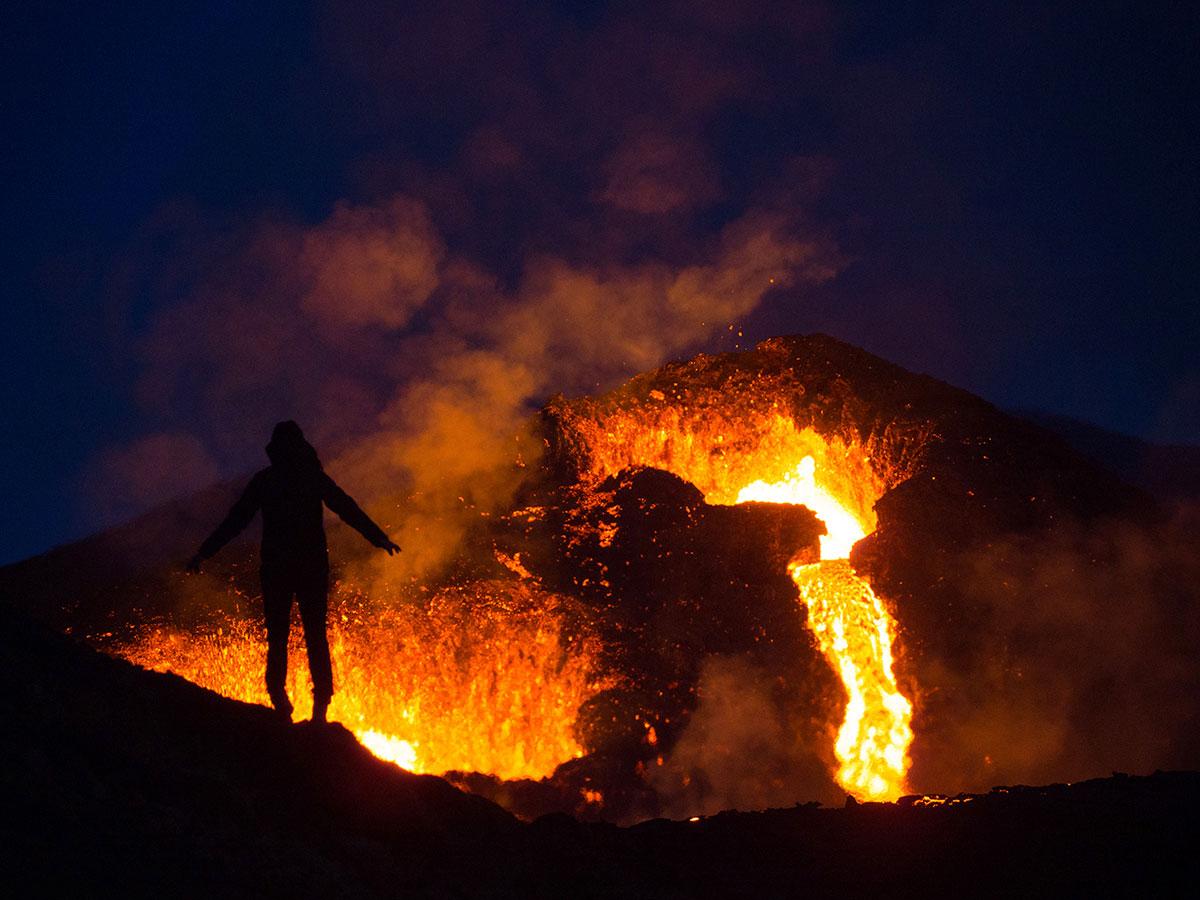 "Vulkan Vulkanausbruch Island Reykjanes Geldingadalur ("")"