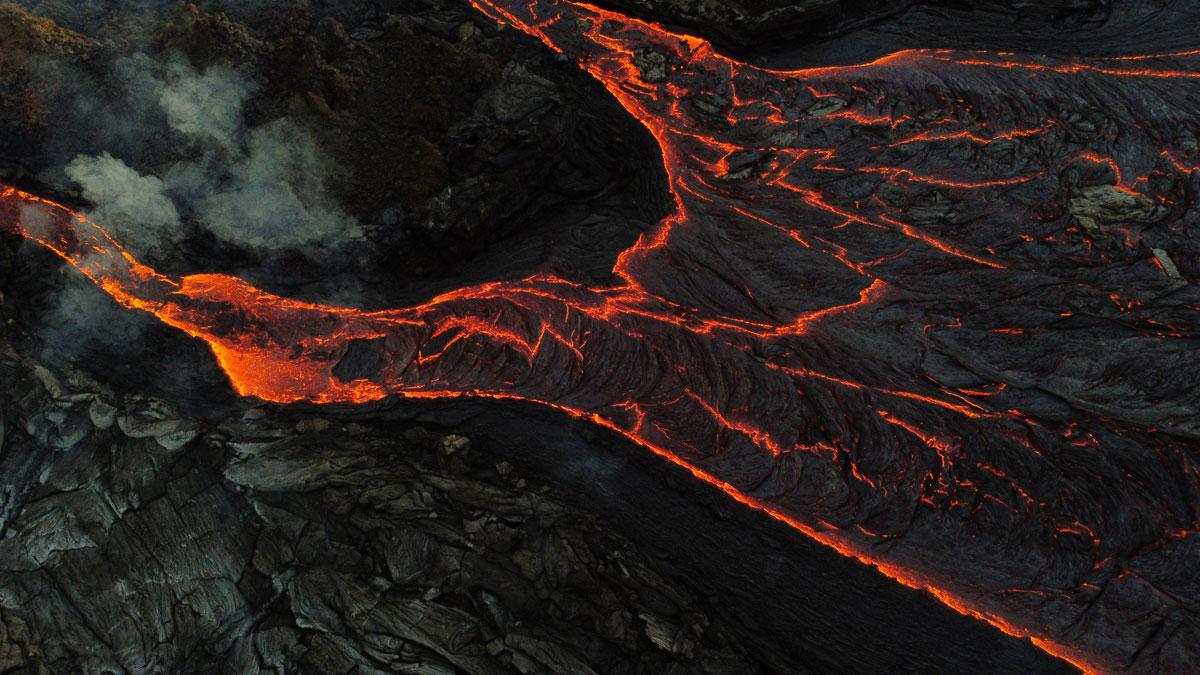 "Vulkan Vulkanausbruch Island Reykjanes Geldingadalur """