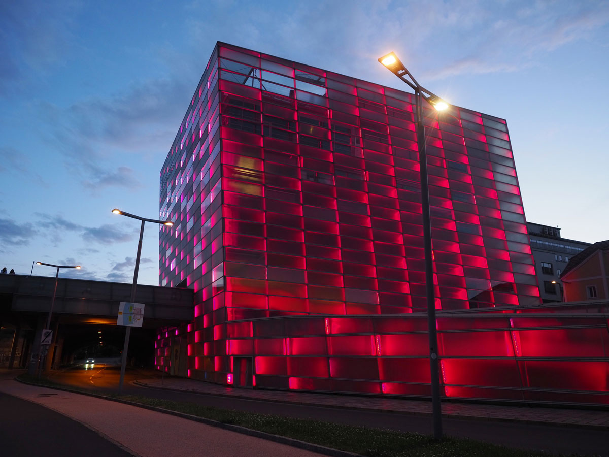 Linz Ars Electronica Centre Nacht