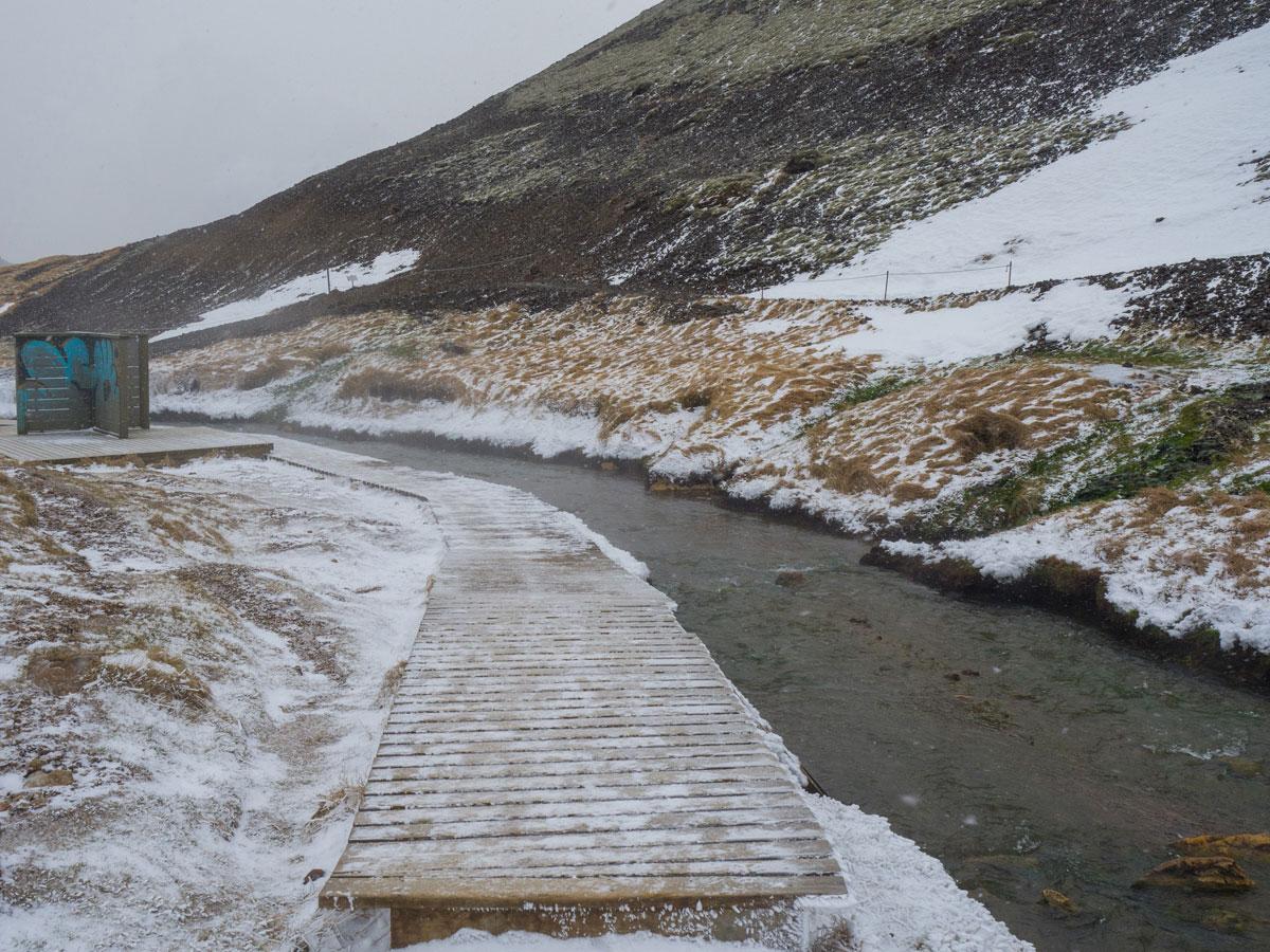 """Reykjadalur Fluss Island Wandern """""""