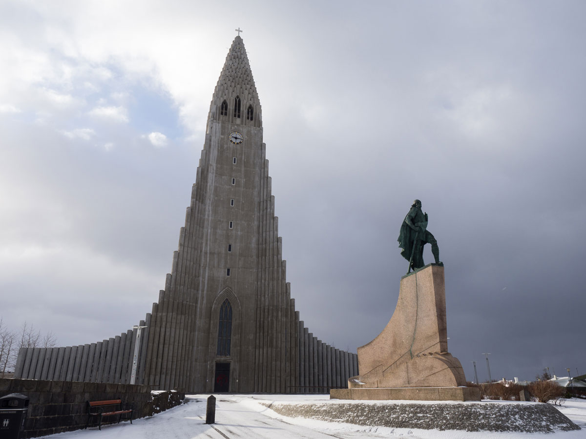 Sehenswuerdigkeiten Reykjavik Island Hallgrimskirkja