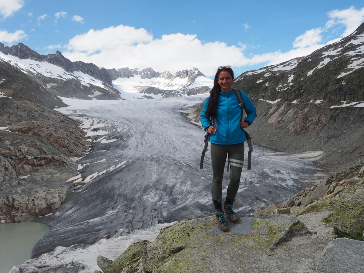 """Ausflugsziel Furkapass Schweiz Rhonegletscher Wandern"""""""