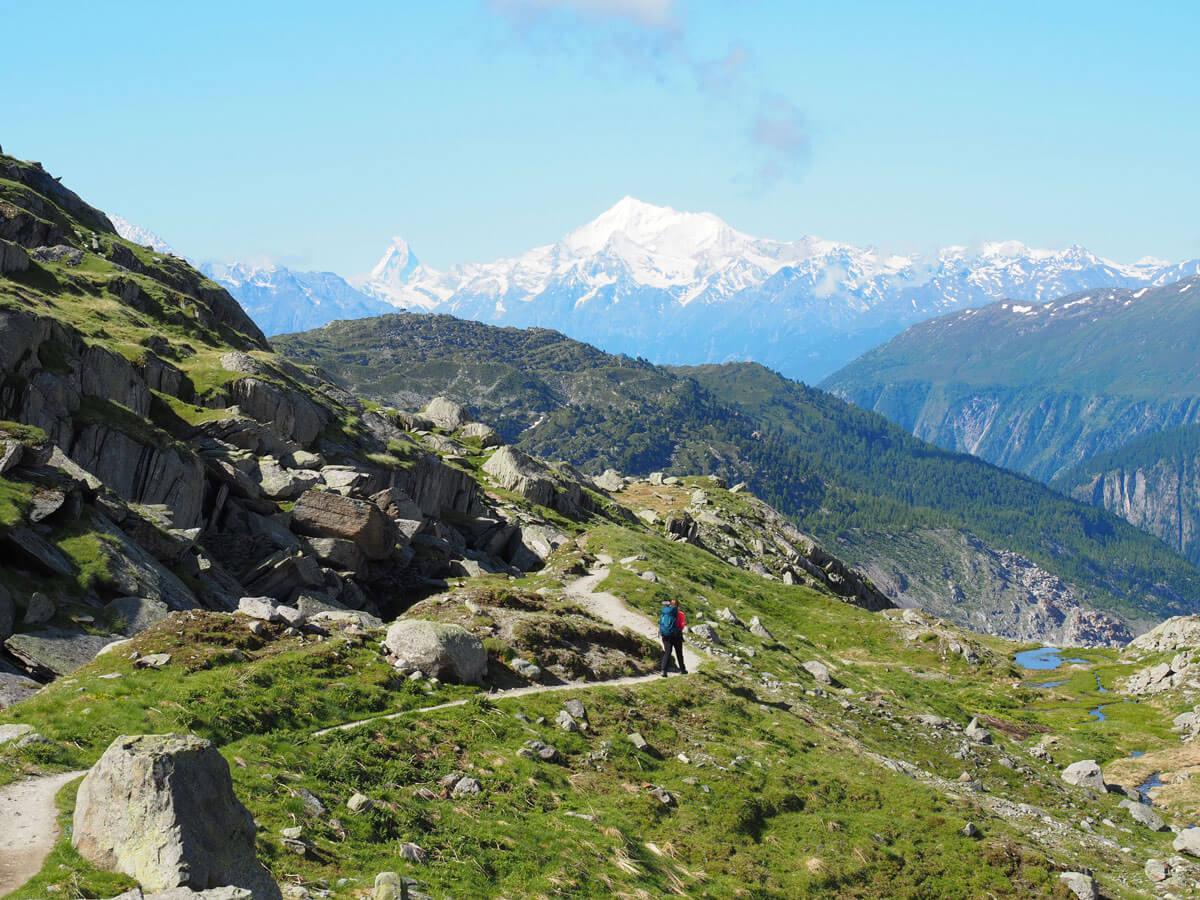 """Panoramaweg Aletschgletscher Wandern Schweiz """""""