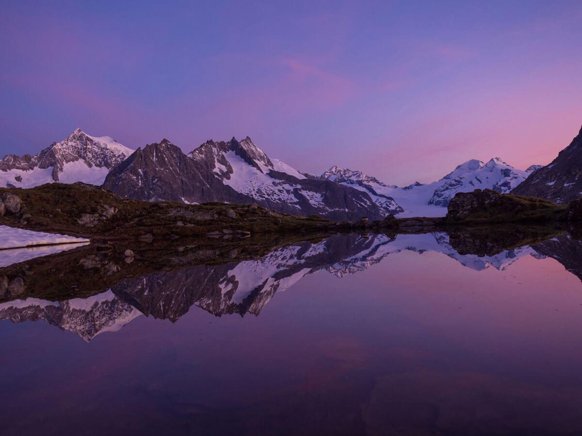 "Sonnenaufgang Aletschgletscher Taellissee """