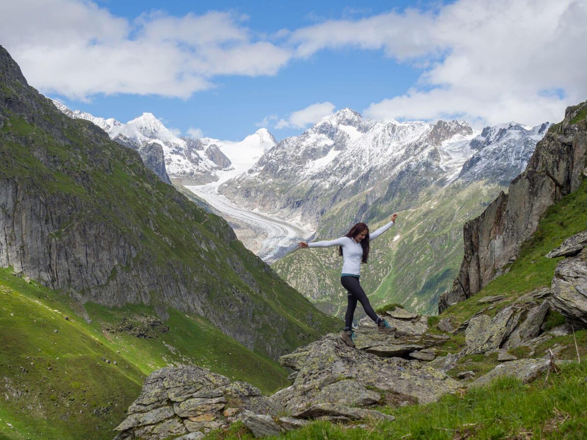 "Wandern Schweiz Aletschgletscher Gletscherstube """