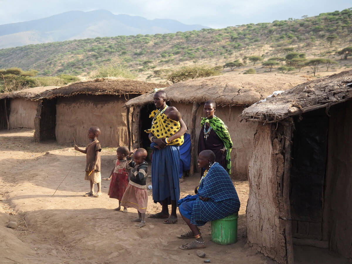 "Tansania Maasai Dorf """